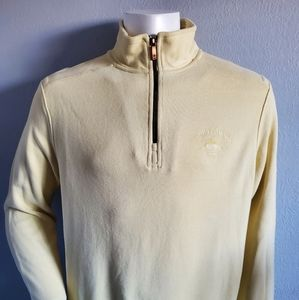 Tommy Bahama Yellow 1/4 Zip Up Pullover Size Large